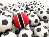 Football with flag of trinidad and tobago — Stock Photo
