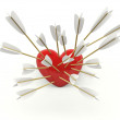 Heart with arrows — Stock Photo #8477946