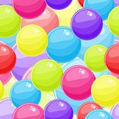 无缝背景与红色蓝色黄色泡沫球 — 图库矢量图片