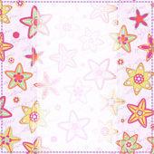 Tarjeta floral con mano escribir texto — Vector de stock