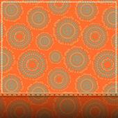 Inbjudningskort med abstrakt orange mönster — Stockfoto