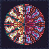Mandala adorno redondo — Vector de stock