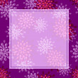 Purple Flower Greeting Card - Imagens vectoriais em stock