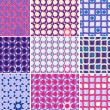 Royalty-Free Stock Vector Image: Seamless Pattern Set with Circles and  Curves