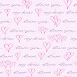 Valentine Seamless Pattern with Hand Writing Element — Stock Vector