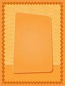 Bright Orange Card — Stock Vector