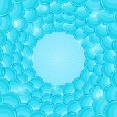Abstracte blauwe kaart met copyspace- en bellendiagrammen cirkel — Stockvector