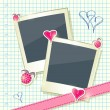 Royalty-Free Stock Vector Image: Card with Two Cute Photo Frames