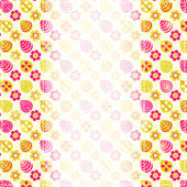 Carta con motivo floreale stilizzato giallo rosa — Vettoriale Stock