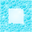 Cyan Water Bubble Frame — Stock Vector