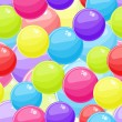 Stock Vector: Seamless Background with Red Blue Yellow Bubble Balls