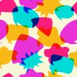 Bubbles Chat Icons Intersect in Seamless Pattern - Stock Vector