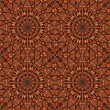 Seamlees Pattern with Symmetry Decoration - Векторная иллюстрация