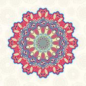 円形建築装飾の要素を持つカード — ストックベクタ
