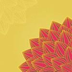 kart köşesinde hafif Pembe çiçek — Stok Vektör
