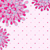Tarjeta de felicitación de flor rosa — Vector de stock
