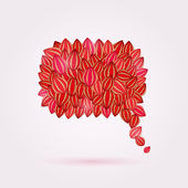 Bubble Chat Composed from Red Shiny Leaves — Stock Vector