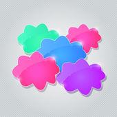 Nubes colores brillantes — Vector de stock