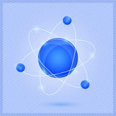 Modelo de molécula brilhante — Vetorial Stock