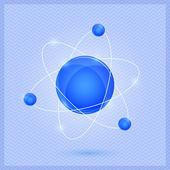 Parlak molekül modeli — Stok Vektör