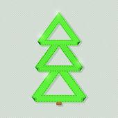 Yeşil kağıt noel ağacı — Stok Vektör