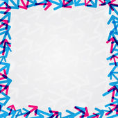 Abstract Shiny Arrow Frame Card with Copy Space — Cтоковый вектор