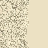 Cartoncino grigio con sagome di fiore. sfondo vettoriale — Vettoriale Stock