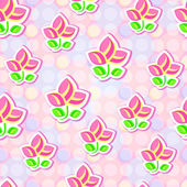 Seamless Floral Stylized Paper Pattern — Vector de stock