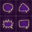 Dark Shiny Set of Bubble Speech Cards — Stockvector #17835191