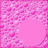 Cartão-de-rosa com gotas de água brilhante e etiqueta — Vetor de Stock
