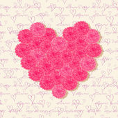 Cartes de voeux avec fleurs roses — Vecteur