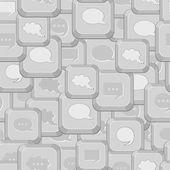 Seamless Pattern with Gray Computer Keys — Cтоковый вектор