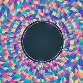 Kleurrijke abstracte uitnodiging achtergrond met ronde plaats voor te — Stockvector