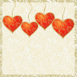 Royalty-Free Stock Immagine Vettoriale: Vintage Valentine Card with Hearts