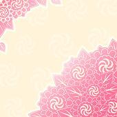 Bouquet di fiori rosa nell'angolo — Vettoriale Stock