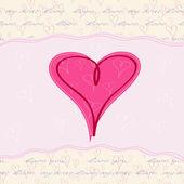 Pink Heart Valentine — Stock Vector