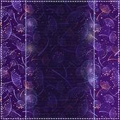 Plue foncé fond d'écran avec fond floral silhouette. — Vecteur