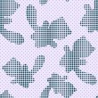Seamless Pattern with Halftone Cat Silhouettes — Cтоковый вектор #19100769