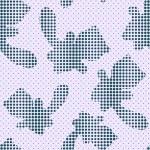 无缝模式与半色调猫剪影 — 图库矢量图片