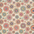 Royalty-Free Stock Vector Image: Seamless Beige Pattern with Colorful Elements
