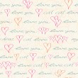 Seamless Pattern with Hand Drawn Text — Stock Vector