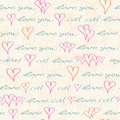 Seamless Pattern with Hand Drawn Text — Vettoriale Stock