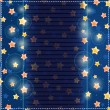 Blue Card with Yellow Stars in Sky — 图库矢量图片