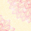 Stock vektor: Pink Flower in Coners of Floral Card