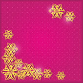 Purpurová pozvánka s papírové květiny siluety. — Stock vektor