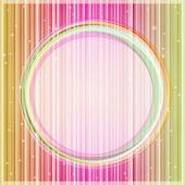 与光粉黄色发光卡圆形标签 — 图库矢量图片