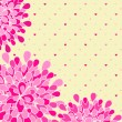 Pink Flower Greeting Card — ストックベクター #26779229