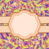 яркие красочные пригласительная открытка с круглой этикетки. — Cтоковый вектор