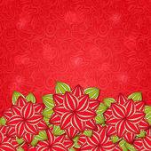 Czerwony kwiat natura tło karty — Wektor stockowy