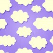 Yellow Clouds in Purple Sky. — Stock Vector